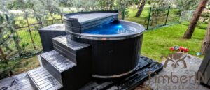 WPC hot tub with electric heater 4