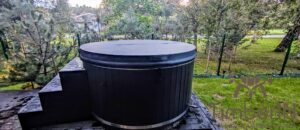 WPC hot tub with electric heater 5