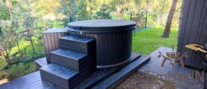 WPC hot tub with electric heater 8