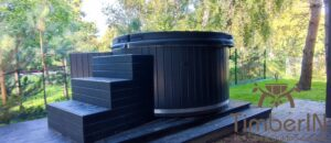 WPC hot tub with electric heater 9
