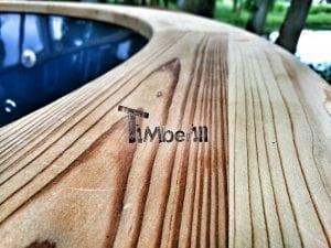 Wellness fiberglasshot tub with complete wood decoration 18