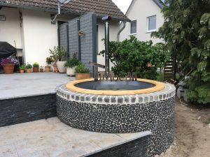 Wellness hot tub with external wood burner 3 1 1
