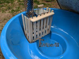 Wellness hot tub with internal burner 7