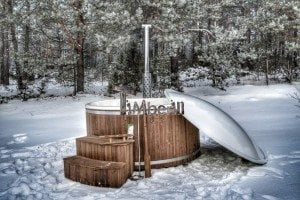 Wood fired hot tub with fiberglass lining Wellness Royal 1