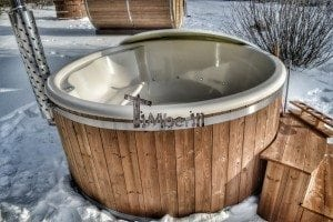 Wood fired hot tub with fiberglass lining Wellness Royal 13
