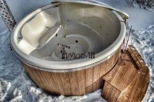 Wood fired hot tub with fiberglass lining Wellness Royal 14