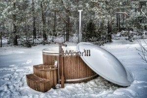 Wood fired hot tub with fiberglass lining Wellness Royal 2