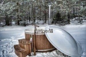 Wood fired hot tub with fiberglass lining Wellness Royal 4