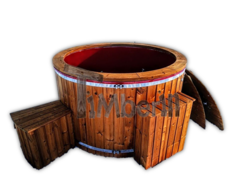 Electric wooden hot tub
