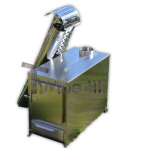 External wood burner hot tub heater