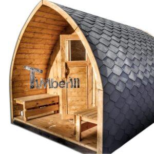 Outdoor home sauna pod