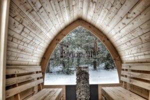 Outdoor sauna igloo design with full wall window for sale 10