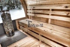 Outdoor sauna igloo design with full wall window for sale 16