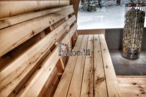 Outdoor sauna igloo design with full wall window for sale 17