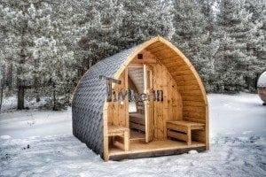 Outdoor sauna igloo design with full wall window for sale 2