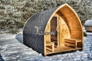 Outdoor sauna igloo design with full wall window for sale 22