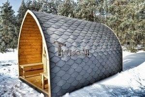 Outdoor sauna igloo design with full wall window for sale 23