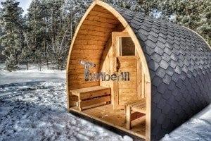 Outdoor sauna igloo design with full wall window for sale 24