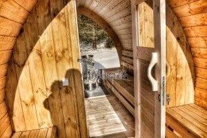 Outdoor sauna igloo design with full wall window for sale 25