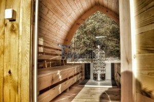 Outdoor sauna igloo design with full wall window for sale 27