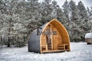 Outdoor sauna igloo design with full wall window for sale 3