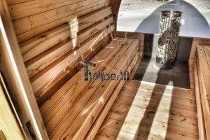 Outdoor sauna igloo design with full wall window for sale 30