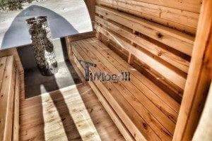 Outdoor sauna igloo design with full wall window for sale 31