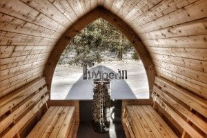 Outdoor sauna igloo design with full wall window for sale 32