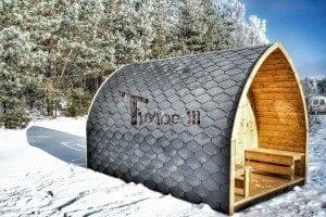 Outdoor sauna igloo design with full wall window for sale 35