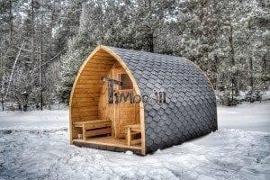 Outdoor sauna igloo design with full wall window for sale 4