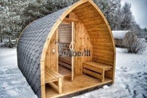 Outdoor sauna igloo design with full wall window for sale 40
