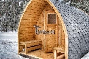 Outdoor sauna igloo design with full wall window for sale 6