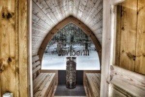 Outdoor sauna igloo design with full wall window for sale 7