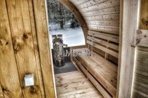 Outdoor sauna igloo design with full wall window for sale 8