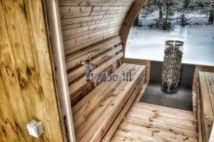 Outdoor sauna igloo design with full wall window for sale 9