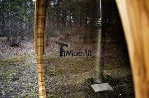 Barrel outdoor garden sauna with panoramic window 11