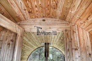 Barrel outdoor garden sauna with panoramic window 32