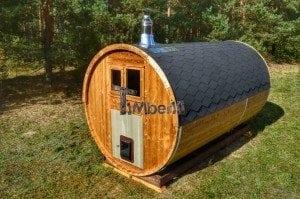 Barrel wooden thermo sauna 13