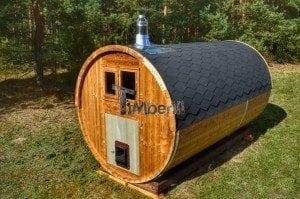 Barrel wooden thermo sauna 14