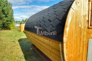 Barrel wooden thermo sauna 18