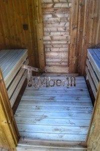 Barrel wooden thermo sauna 23