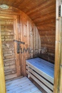 Barrel wooden thermo sauna 24