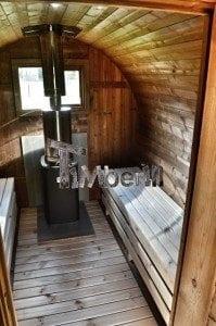 Barrel wooden thermo sauna 33