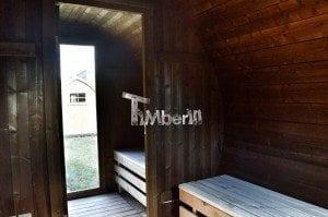 Barrel wooden thermo sauna 35