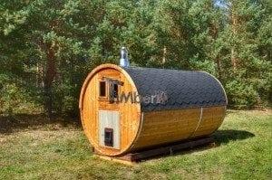 Barrel wooden thermo sauna 9
