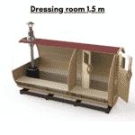 Dressing room 1.5 m for a barrel sauna
