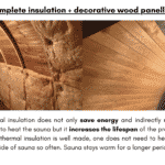 For sauna 2 – 3 m. of length complete insulation decorative wood panelling for rectangular sauna