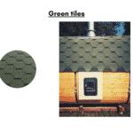 Green tiles for rectangular sauna