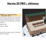 Harvia 20 PRO chimney for rectangular sauna
