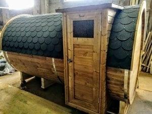 Outdoor Barrel Round Sauna 1 1